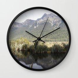 Mirror Lakes Wall Clock