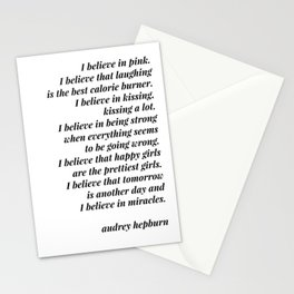 Audrey Hepburn quote Stationery Cards