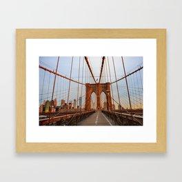 Brooklyn Bridge Sunrise Framed Art Print