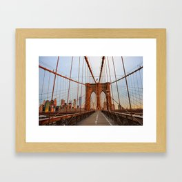 Brooklyn Bridge Sunrise Framed Art Print