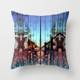 Flipped On - Abstract Geometry Photo Throw Pillow