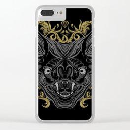 Ornamental Bat Head Clear iPhone Case