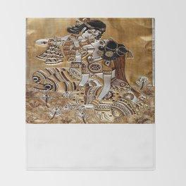Indian God Radha Krishna Throw Blanket