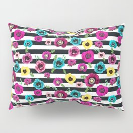 Flowers and stripes Pillow Sham