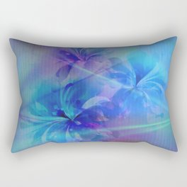 Soft  Colored Floral Lights Beams Abstract Rectangular Pillow
