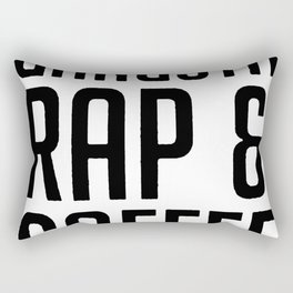 FUELED BY GANGSTA RAP & COFFEE T-SHIRT Rectangular Pillow