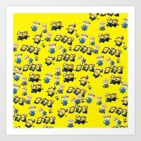 minions Art Prints featuring Minions by Illuminany