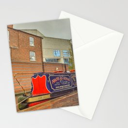 Canal Boat at the Waters Edge  Brindley Place Stationery Cards
