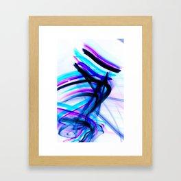 Attitude Abstract Digital Line Painting Framed Art Print