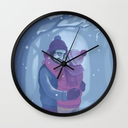 Winter Days Wall Clock