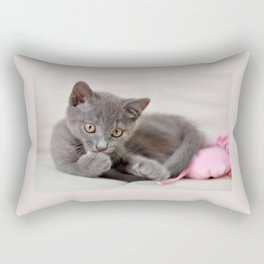 cute kitten Rectangular Pillow