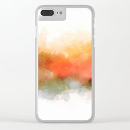Soft Marigold Pastel Abstract Clear iPhone Case