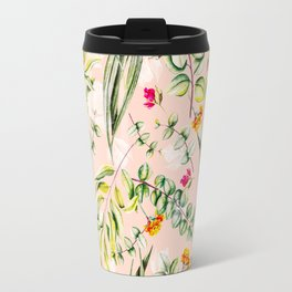 Pattern leaf and flowers II Travel Mug