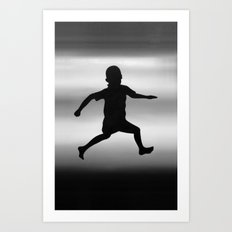 Body Movin - Joy B&W Art Print