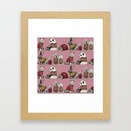 vintage chums pink Framed Art Print