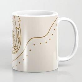 Good Fortune Gal - Rust & Tan Coffee Mug
