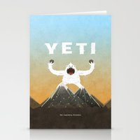 yeti Stationery Cards featuring Yeti by Artificial primate