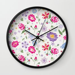 Fragrant Blooms Wall Clock