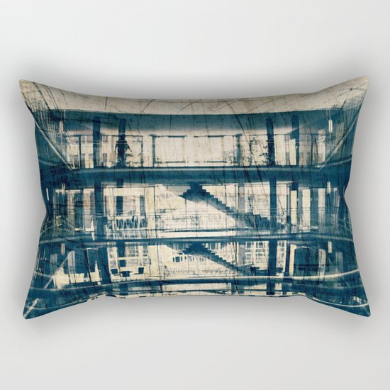 Labyrinth of Stairs #1 Rectangular Pillow