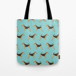 Airedale Terrier pattern dog breed cute custom dog pattern gifts for dog lovers Tote Bag