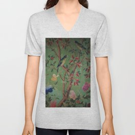 Green Dream Chinoiserie Unisex V-Neck