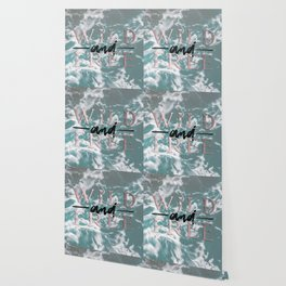 Wild and Free Waves in Rose Gold Wallpaper