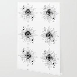 Tribal Mandala Watermark Ace of Spades Wallpaper