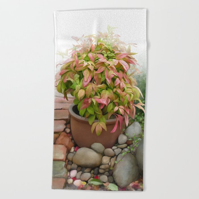 Leaves and Dew Beach Towel