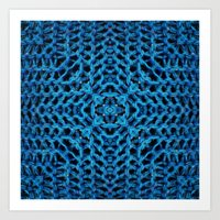 knit Art Prints featuring Knit Reflection by Katie Troisi