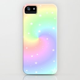 Rainbow Swirls and Stars iPhone Case