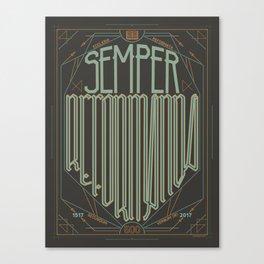 Semper Reformanda: Celebrating the 500th Anniversary of the Protestant Reformation (alt color) Canvas Print