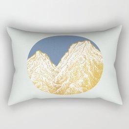 """遠望 series -""""Valley"""" in Circle - Linocut Rectangular Pillow"""