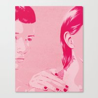 sisters Canvas Prints featuring Sisters by Hands and Hustle