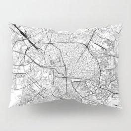 Bucharest White Map Pillow Sham