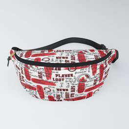 Gamer Lingo-White and Red Fanny Pack