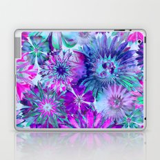 Rivalry of Flowers - blue & pink Laptop & iPad Skin