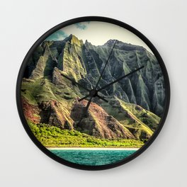 Na' Pali Coast, Kauai, Hawaii Wall Clock