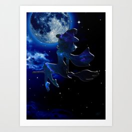 A MIDNIGHT JOURNEY Art Print