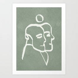 Abstract Statues Art Print