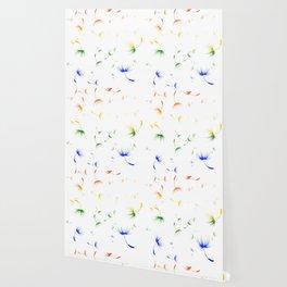 Dandelion Seeds Gay Pride (white background) Wallpaper