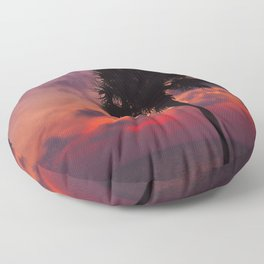 Romantic Breezy Sunset Floor Pillow