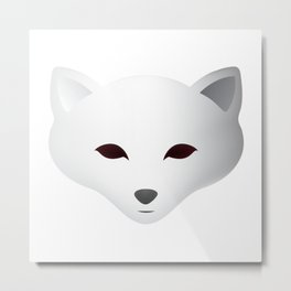 Winter Snow Fox Metal Print