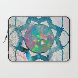 Psychedelic Crystal Lotus 2 Laptop Sleeve