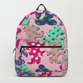 Mickey and Minnie pattern Backpack