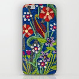 Cozy Felted Wool Flower Garden iPhone Skin