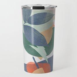 Abstract still nature with watercolour shapes Travel Mug