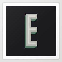 Type Seeker - E Art Print