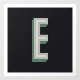 Type Seeker - E Art Print