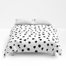 Dalmatian dots black Comforters