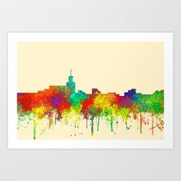 Santa Fe, New Mexico Skyline - SG Art Print